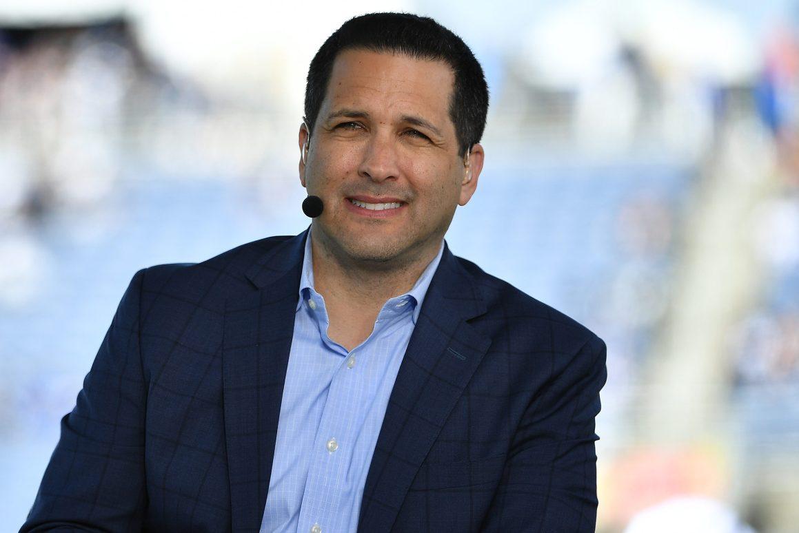 ESPN's Adam Schefter looks on during the 2020 NFL Pro Bowl