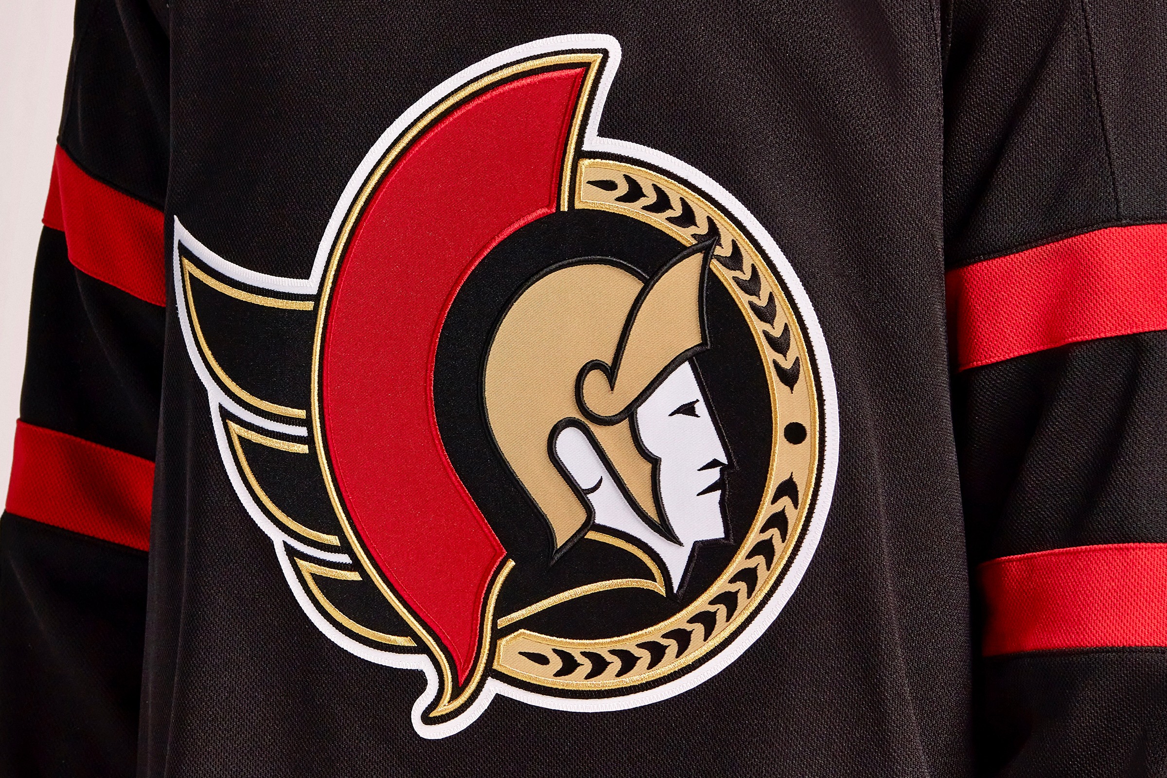 The Senators' new jersey.