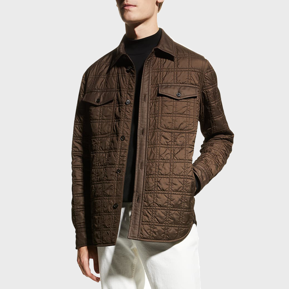 Brioni Lightweight Quilted Overshirt
