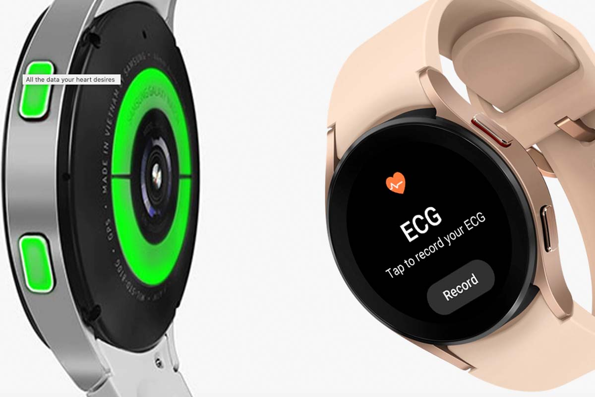 Health options on two different Samsung Galaxy Watch4